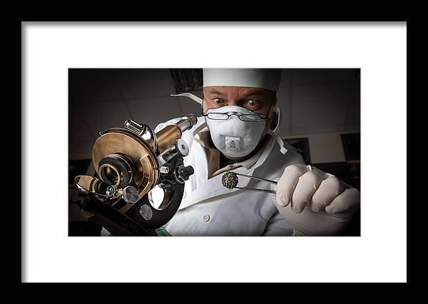 Armed Framed Print featuring the photograph Coronavirus by Dmitry Skvortsov
