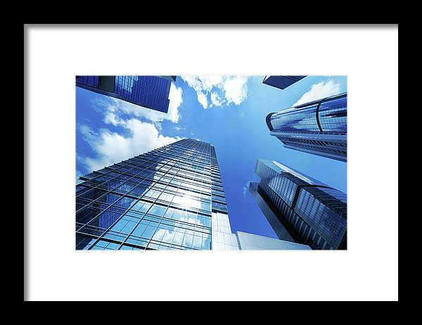 Corporate Business Framed Print featuring the photograph Corporate Building by Samxmeg