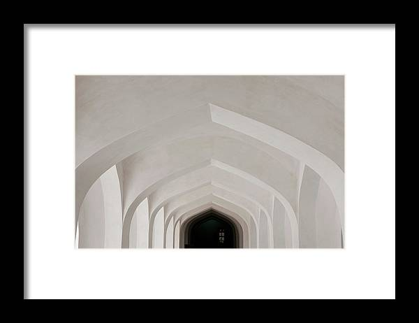 Tranquility Framed Print featuring the photograph Corridor In Amer Fort, Rajasthan, India by Cultura Exclusive/karen Fox