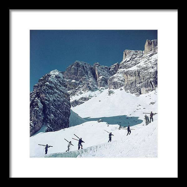 Skiing Framed Print featuring the photograph Cortina Dampezzo by Slim Aarons