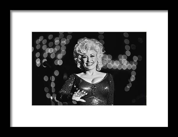 Dolly Parton Framed Print featuring the photograph Country Singer Dolly Parton In Concert by George Rose