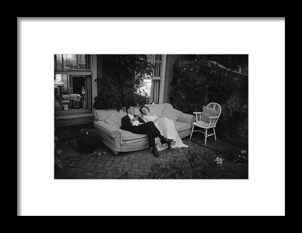 Debutante Framed Print featuring the photograph Couple At Party by Thurston Hopkins