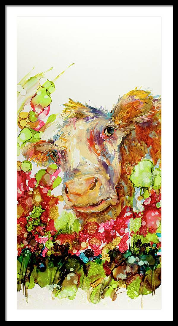 Cow Painting Called I can Play Peek A Boo Til the Cows Come Home by Kim Guthrie