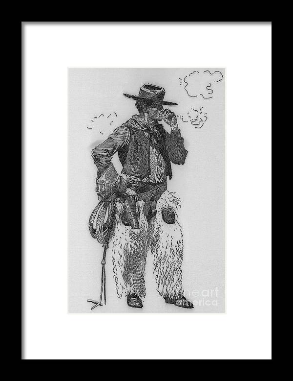 People Framed Print featuring the photograph Cowboy by Bettmann