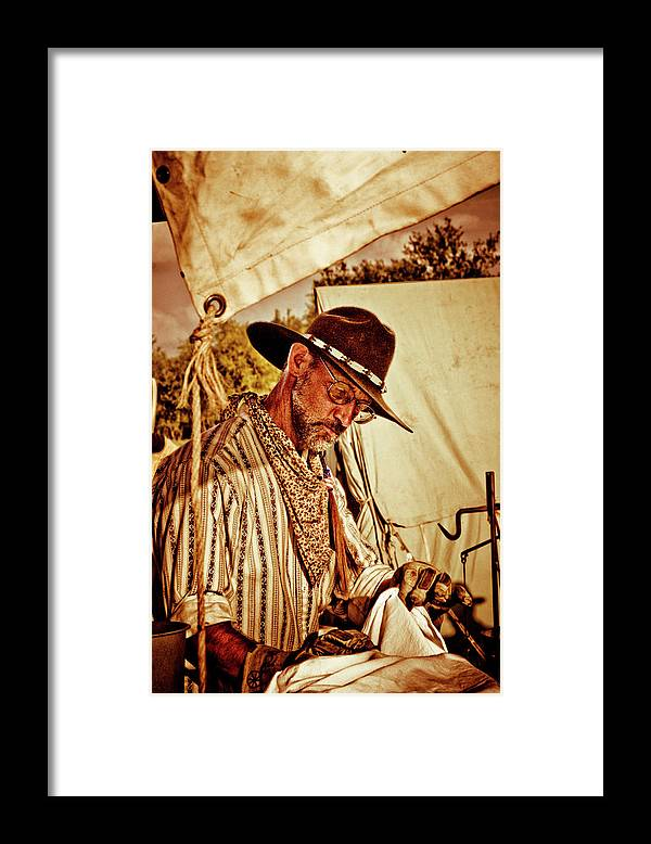 Cowboy Framed Print featuring the photograph Cowboy Padre by Toni Hopper