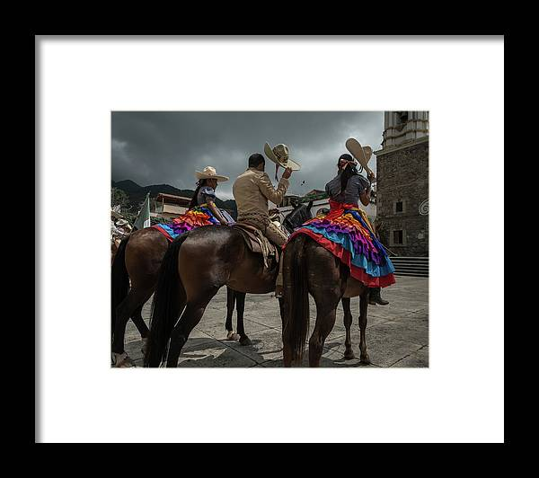 Cowgirls Framed Print featuring the photograph Cowboys and Sombreros by Dane Strom