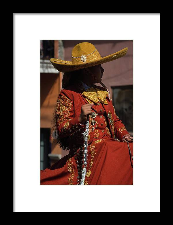 Cowgirl Framed Print featuring the photograph Cowgirl Silhouette I by Dane Strom