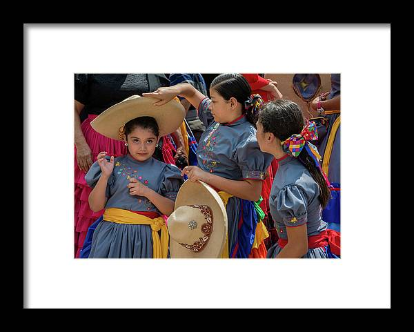 Cowgirls Framed Print featuring the photograph Cowgirls and Their Sombreros by Dane Strom