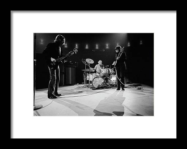 Music Framed Print featuring the photograph Cream At Madison Square Garden by Michael Ochs Archives