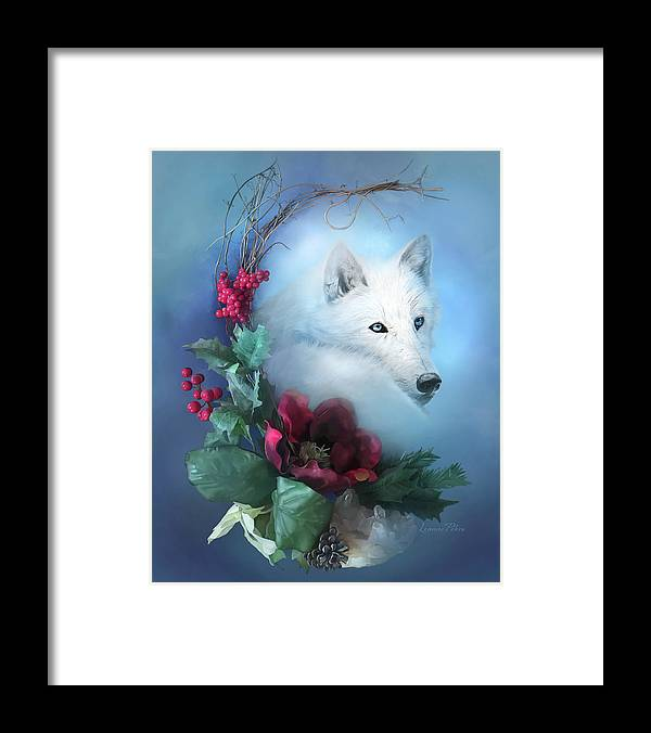 Crescent Wild Winter Solstice Framed Print featuring the painting Crescent Wild Winter Solstice by Art And A Little Magic