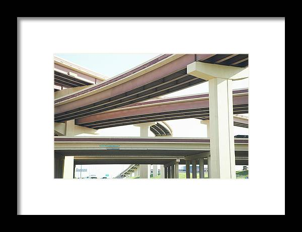 Crisscross Framed Print featuring the photograph Crisscrossing Freeway Overpasses by Siri Stafford