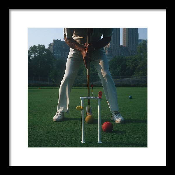Croquet Framed Print featuring the photograph Croquet Player by Slim Aarons