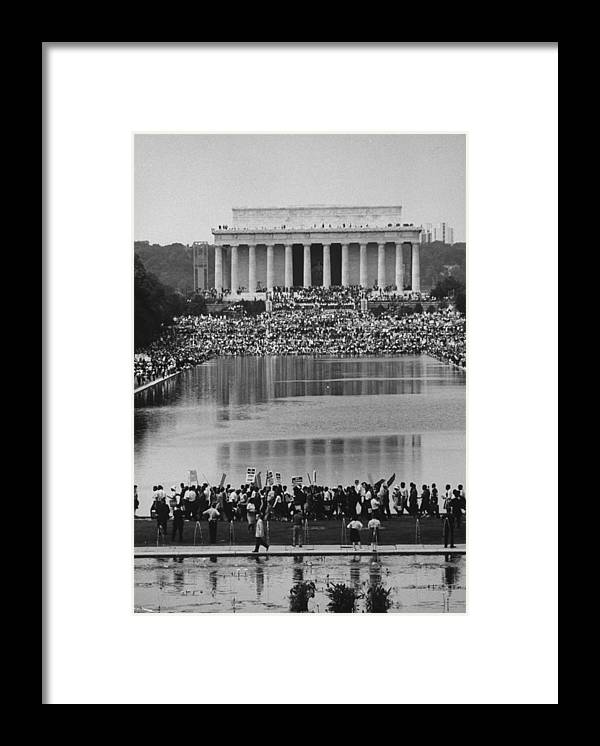Timeincown Framed Print featuring the photograph Crowd Of People Attending A Civil Rights by John Dominis