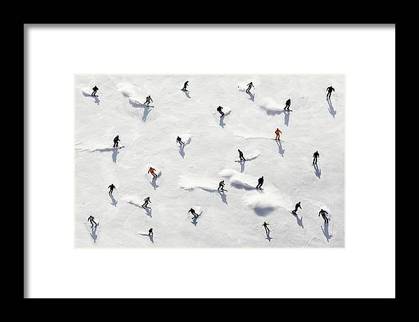 Skiing Framed Print featuring the photograph Crowded Holiday by Mistikas