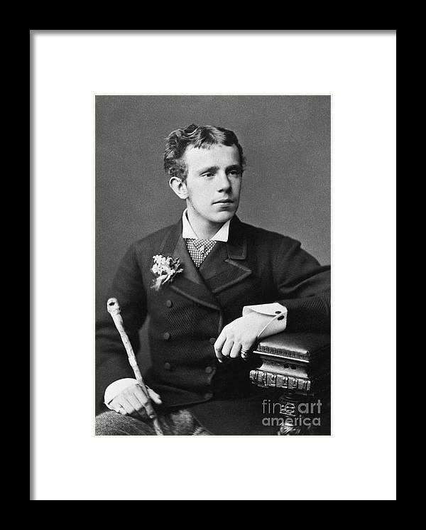 Crown Framed Print featuring the photograph Crown Prince Rudolf Waist Up Photo by Bettmann