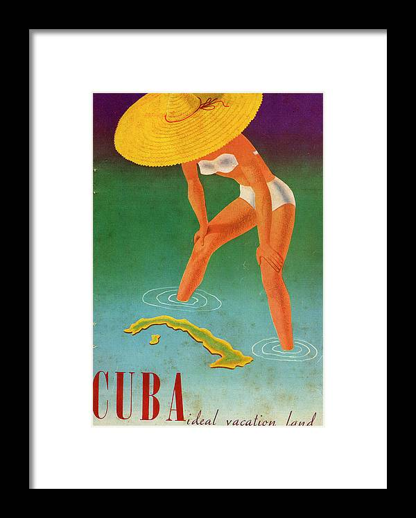 Recreational Pursuit Framed Print featuring the photograph Cuba, Ideal Vacation Land by Jim Heimann Collection
