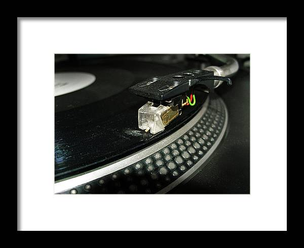 Music Framed Print featuring the photograph Cued Up Record by Richard Newstead