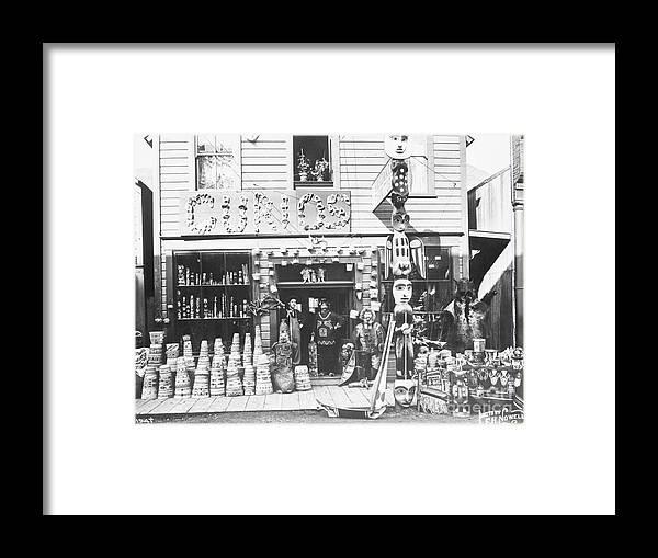 Art Framed Print featuring the photograph Curio Store by Bettmann