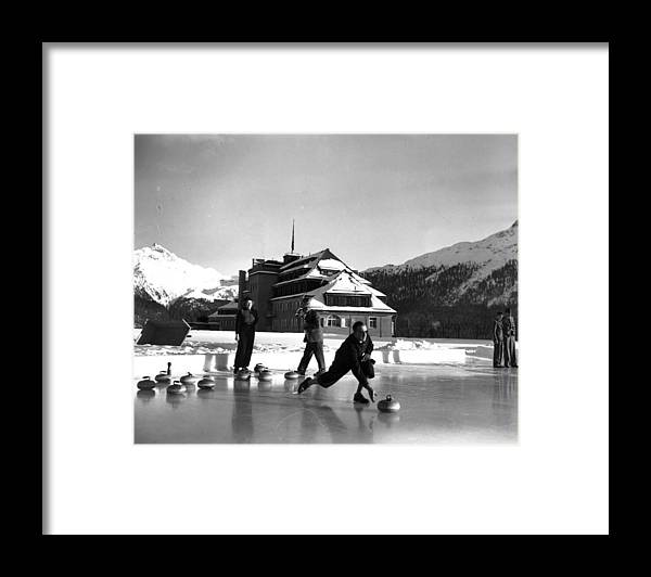 Recreational Pursuit Framed Print featuring the photograph Curling At Christmas by George Konig