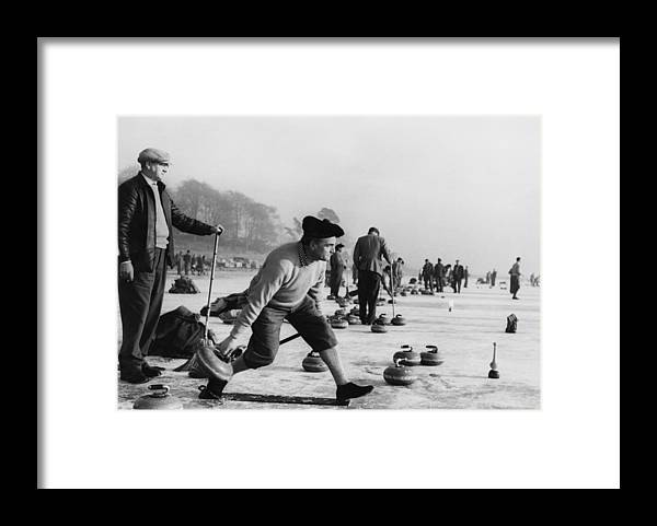 People Framed Print featuring the photograph Curling On Loch Leven by Keystone