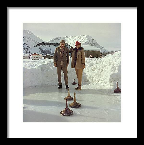 Curling Framed Print featuring the photograph Curling by Slim Aarons