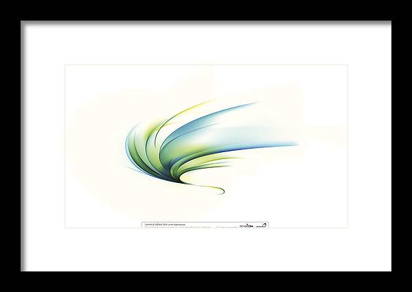Curve Framed Print featuring the digital art Curved Shape On White Background by Eastnine Inc.
