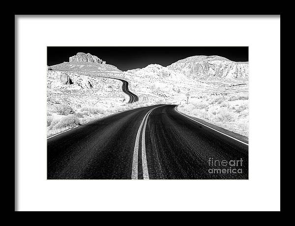 Curves In The Valley Of Fire Framed Print featuring the photograph Curves at the Valley of Fire by John Rizzuto