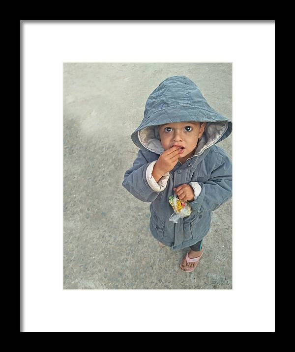 Cute Framed Print featuring the photograph Cute baby by Imran Khan