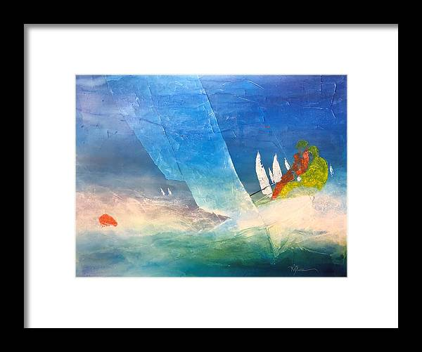 Watercolor Framed Print featuring the painting Cutting Edge by Robert Yonke