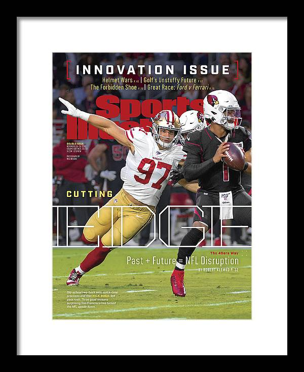Magazine Cover Framed Print featuring the photograph Cutting Edge The 49ers Way Sports Illustrated Cover by Sports Illustrated