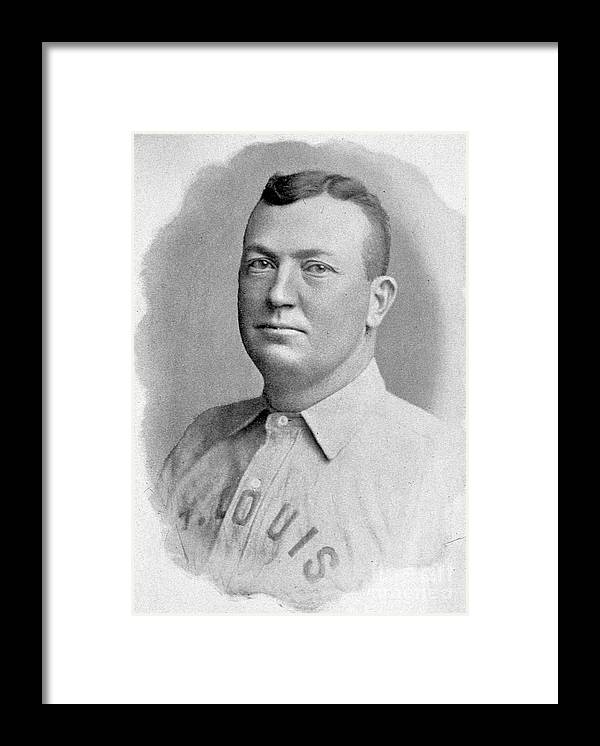 People Framed Print featuring the photograph Cy Young St. Louis 1899 by Transcendental Graphics