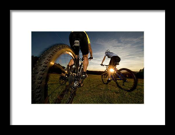 Blurred Motion Framed Print featuring the photograph Cycling Adventure by Gorfer