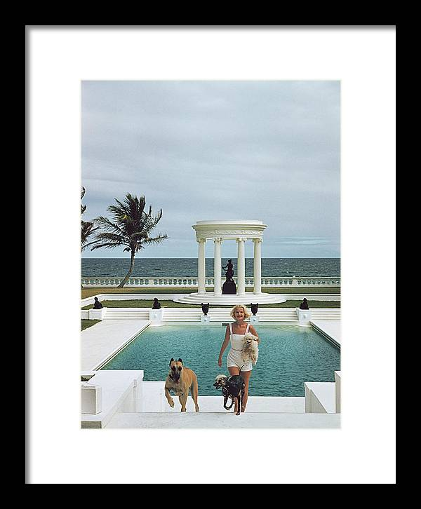 Pets Framed Print featuring the photograph Czs Dogs by Slim Aarons