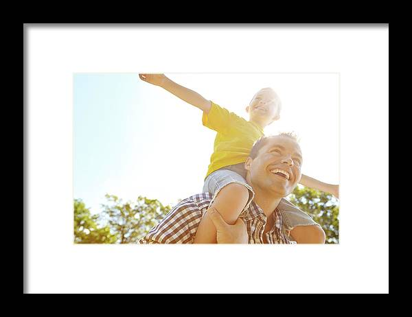 Human Arm Framed Print featuring the photograph Dad Makes Me Feel Like I Can Fly by Gradyreese