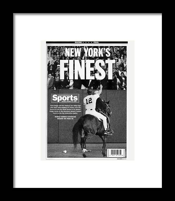 Horse Framed Print featuring the photograph Daily News Back Page by New York Daily News Archive