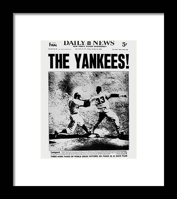 American League Baseball Framed Print featuring the photograph Daily News Front Page Dated Oct. 10 by New York Daily News Archive