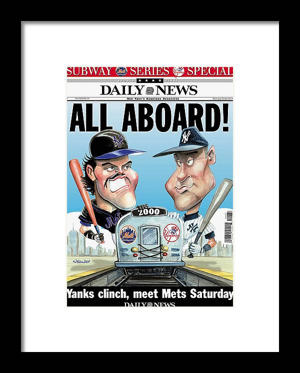 American League Baseball Framed Print featuring the photograph Daily News Front Page Dated Oct. 18 by New York Daily News Archive