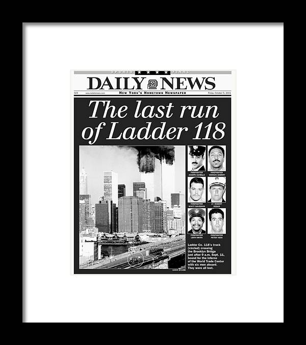 Vertical Framed Print featuring the photograph Daily News Front Page Dated Oct. 5 by New York Daily News Archive