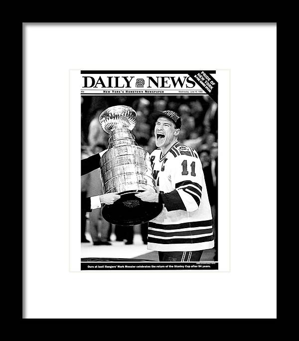 National Hockey League Framed Print featuring the photograph Daily News Front Page June 15, 1994 by New York Daily News Archive