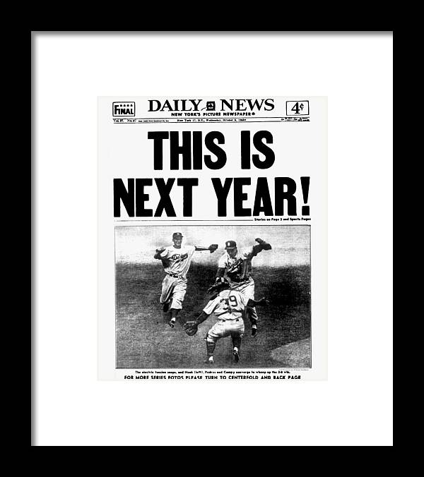 1950-1959 Framed Print featuring the photograph Daily News Front Page October 5, 1955 by New York Daily News Archive