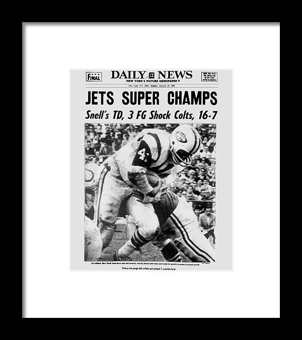 Vertical Framed Print featuring the photograph Daily News Front Page Page January 13 by New York Daily News Archive