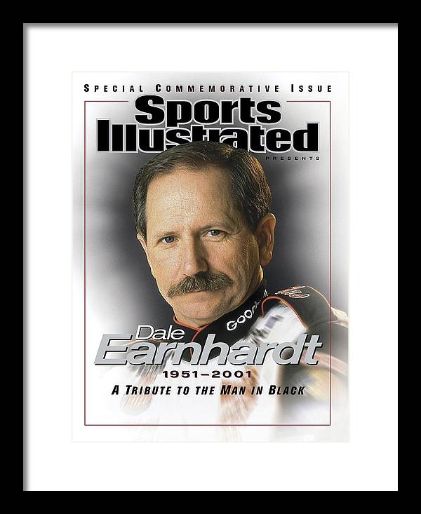 Magazine Cover Framed Print featuring the photograph Dale Earnhardt, 1951 - 2001 A Tribute To The Man In Black Sports Illustrated Cover by Sports Illustrated