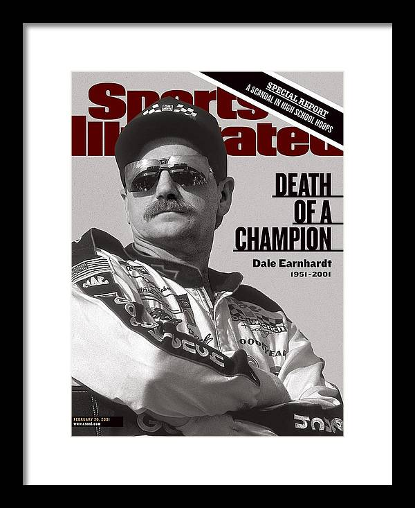 Atlanta Framed Print featuring the photograph Dale Earnhardt, 1993 Hooters 500 Sports Illustrated Cover by Sports Illustrated
