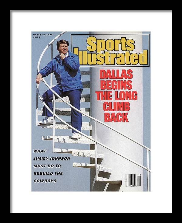 Magazine Cover Framed Print featuring the photograph Dallas Begins The Long Climb Back Sports Illustrated Cover by Sports Illustrated