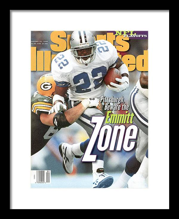 Playoffs Framed Print featuring the photograph Dallas Cowboys Emmitt Smith, 1996 Nfc Championship Sports Illustrated Cover by Sports Illustrated