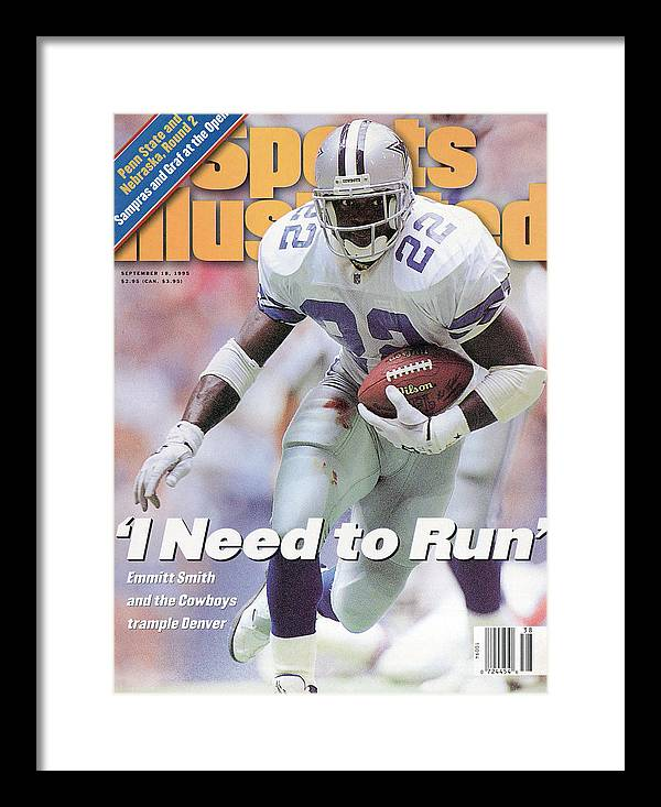 Magazine Cover Framed Print featuring the photograph Dallas Cowboys Emmitt Smith... Sports Illustrated Cover by Sports Illustrated