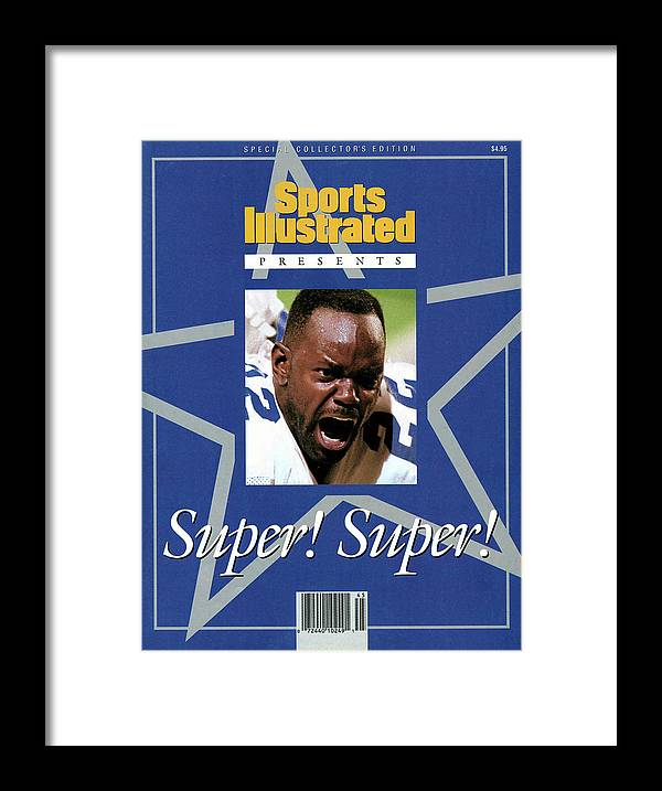Atlanta Framed Print featuring the photograph Dallas Cowboys Emmitt Smith, Super Bowl Xxviii Sports Illustrated Cover by Sports Illustrated