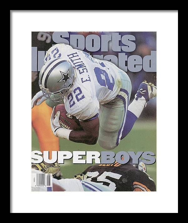 Emmitt Smith Framed Print featuring the photograph Dallas Cowboys Emmitt Smith, Super Bowl Xxx Sports Illustrated Cover by Sports Illustrated