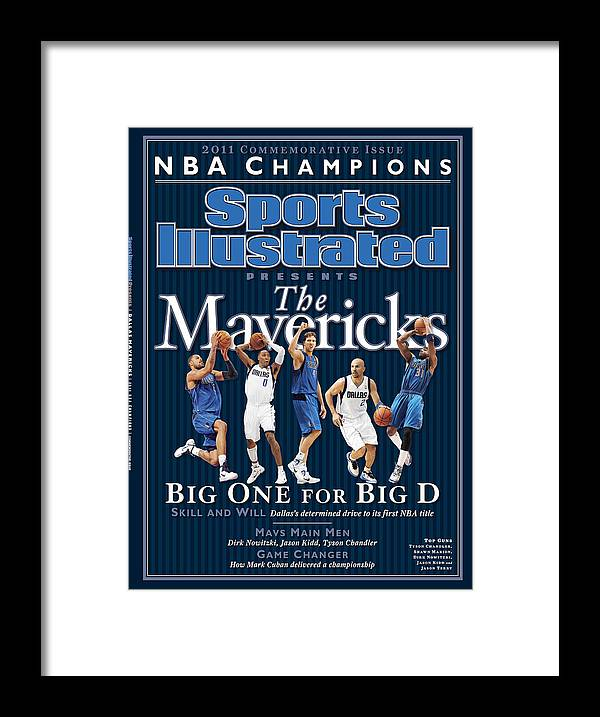 Jason Terry Framed Print featuring the photograph Dallas Mavericks, 2011 Nba Champions Sports Illustrated Cover by Sports Illustrated