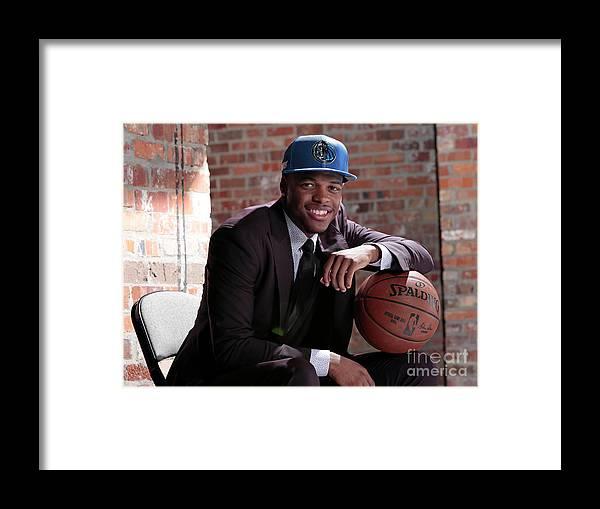 Nba Pro Basketball Framed Print featuring the photograph Dallas Mavericks Introduce Dennis Smith by Glenn James